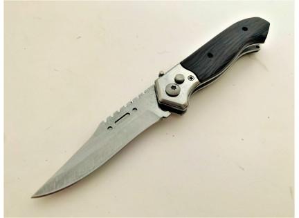 Выкидной нож №1. Дамаск