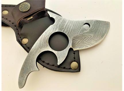 Нож Акулёнок. Дамаск