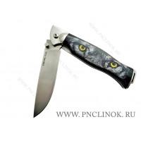 Нож Складной Черный ВОЛК. s390. 70 HRC