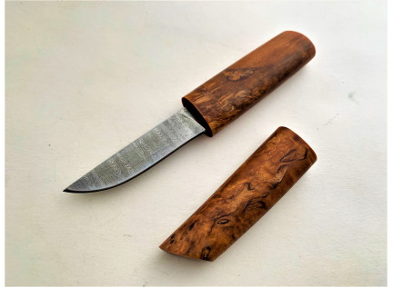 """Нож """"Настольный Сабасаки"""". Дамаск"""