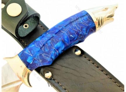 "Авторский нож ""Голубая Акула"""
