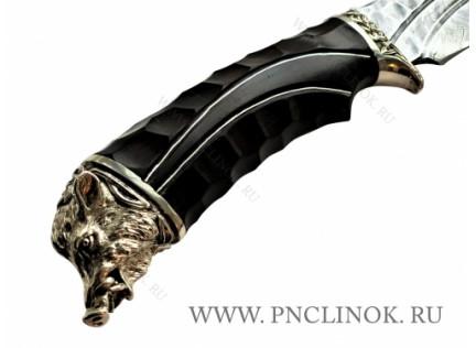 "Авторский нож ""Серебряный КАБАН-1"""