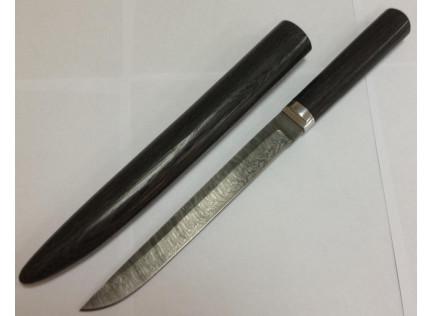 """Нож """"Якут"""" с деревянными ножнами."""
