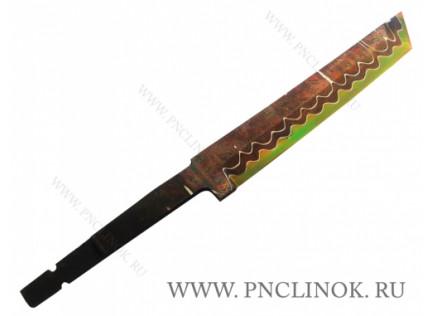 Клинок Дамаск с никелем и гальваникой № 1
