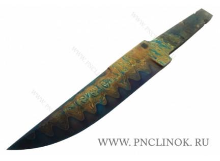 Клинок Дамаск с никелем и гальваникой № 2