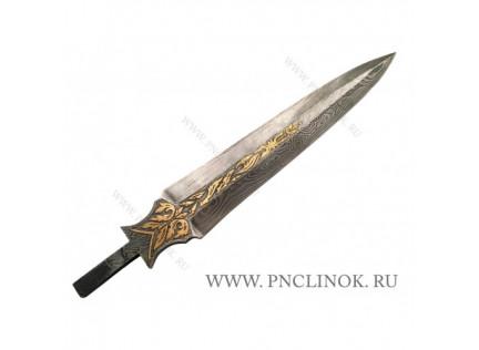 """Клинок """"Королевский"""" дамаск."""
